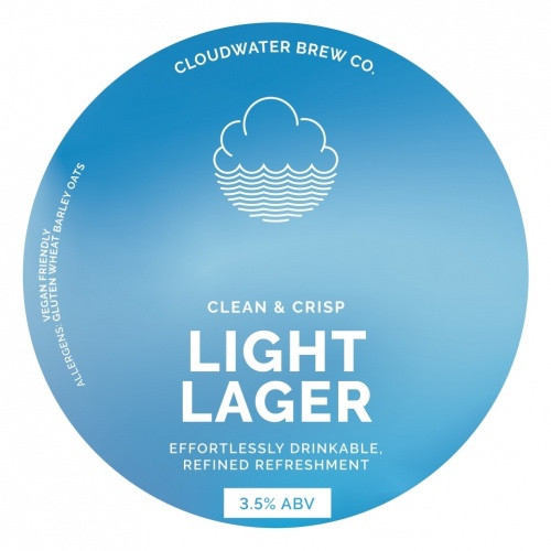 Cloudwater Light Lager & Glass Growler Combo