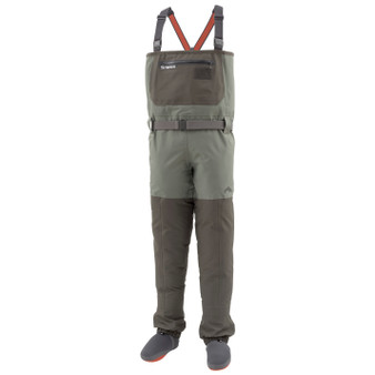 Simms Freestone Stockingfoot Wader Dark Gunmetal Image 1