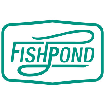 Fishpond Double Haul Thermal Die Cut Sticker Aqua Image 1
