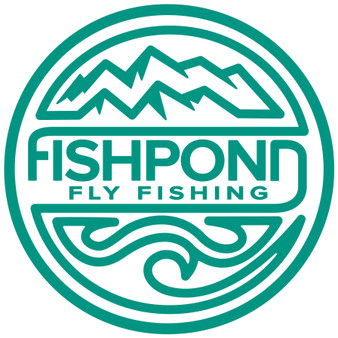 Fishpond Headwaters Thermal Die Cut Sticker Aqua Image 1