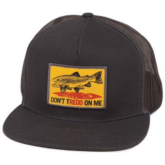 Fishpond Don T Tredd Five Panel Trucker Hat Charcoal Slate Image 1