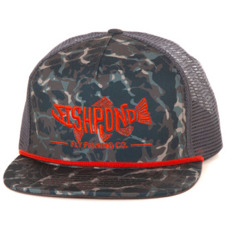 Fishpond Pescado Trucker Hat Riverbed Camo Mid Crown Image 1