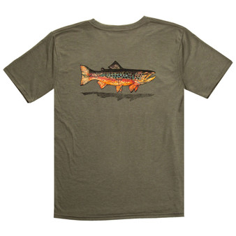 Fishpond Local SS T Shirt Olive Image 1