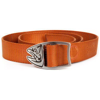 Fishpond Trucha Webbing Belt Burnt Orange Image 1