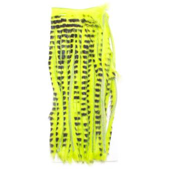 Wapsi Barred Half Zonked Rabit Skin Fluorescent Chartreuse Image 1