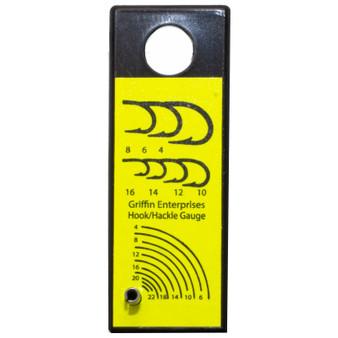 Griffin Hook Hackle Gauge Black Yellow Image 1