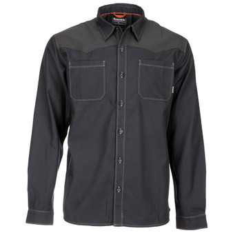 Simms Blacks Ford Flannel LS Shirt Black Image 1