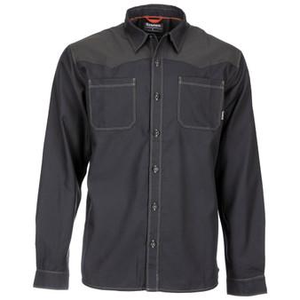 Simms Blacks Ford Flannel LS Shirt Black Image 1