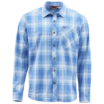 Simms Outpost Ls Shirt Pacific Plaid Image 1