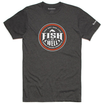 Simms Fish It Well SS T Shirt Charcoal Heather Image 1
