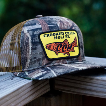 Crooked Creek Holler Camo Trout Trucker Realtree Max 5 Image 1