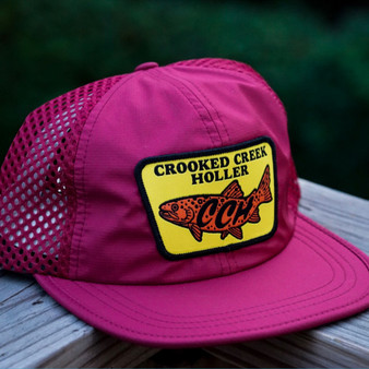 Crooked Creek Holler Quick Dry Trout Trucker Cardinal Image 1
