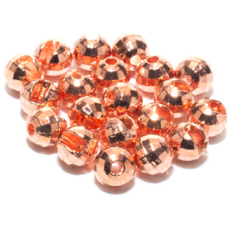 Hareline Faceted Slotted Tungsten Beads Copper Image 1
