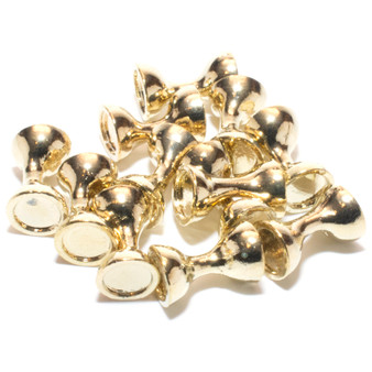 Hareline Flat End Tungsten Hour Glass Eyes Gold Image 1
