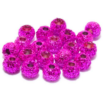 Hareline Gritty Tungsten Beads Pink Grit Image 1