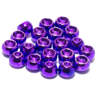 Hareline Tungsten Beads Metallic Purple Image 1
