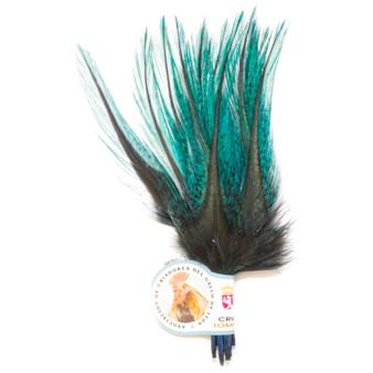 Hareline Uv2 Coq De Leon Perdigon Fire Tail Feathers Fluorescent Blue Image 1