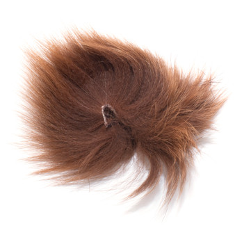 Hareline Arctic Fox Tail Hair Brown Image 1