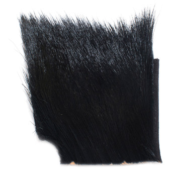Hareline Dyed Deer Body Hair Black Image 1