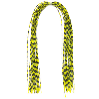 Hareline Grizzly Barred Rubber Legs Fluorescent Chartreuse Image 1