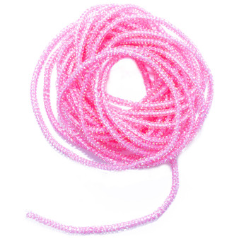 Hareline Pearl Core Braid Pink Image 1