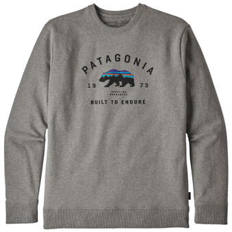 Patagonia Arched Fitz Roy Bear Uprisal Crew Sweatshirt Gravel Heather Image 1