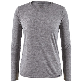 Patagonia Womens Cap Cool Daily LS Shirt Feather Grey Image 1