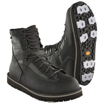 Patagonia Foot Tractor Sticky Rubber Aluminum Bar Wading Boots Forge Grey Image 1
