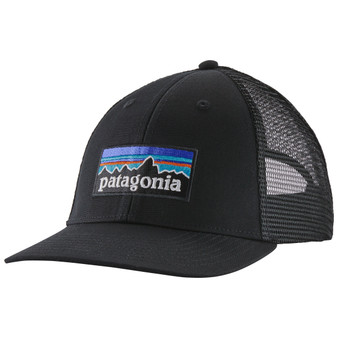 Patagonia P 6 Logo Lopro Trucker Hat Black Image 1