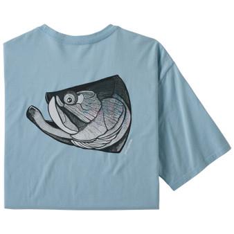 Patagonia Fish Noggins Organic Cotton SS T Shirt Big Sky Blue Tarpon Noggin Image 1