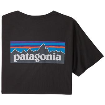 Patagonia P 6 Logo Organic Cotton SS T Shirt Black Image 1