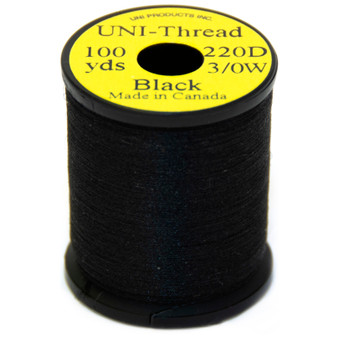 Uni Products Uni Thread Black Image 1