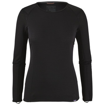 Patagonia Womens Capilene Thermal Weight Crew Black Image 1