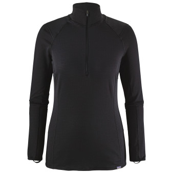 Patagonia Womens Capilene Thermal Weight Zip Neck Black Image 1