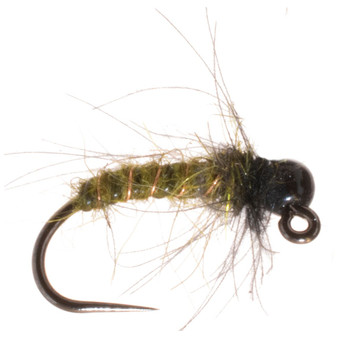 Umpqua Tungsten Bead Head Jigged Caddis Pupa Green Image 1