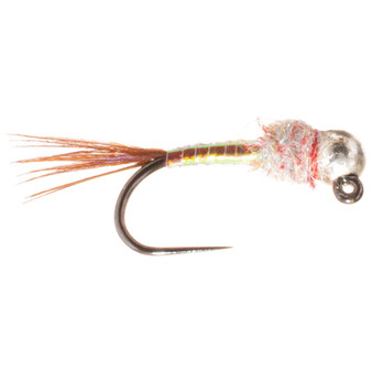 Umpqua Tungsten Bead Head Rainbow Warrior Jig Pearl Image 1