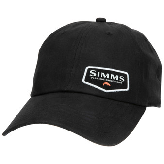Simms Oil Cloth Cap Black Image 1