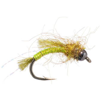 Solitude Fly Bead Head Deep Six Caddis Pupa Chartreuse Image 1