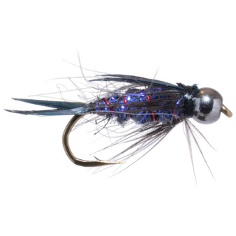 Solitude Fly Bead Head Sparkle Prince Purple Image 1