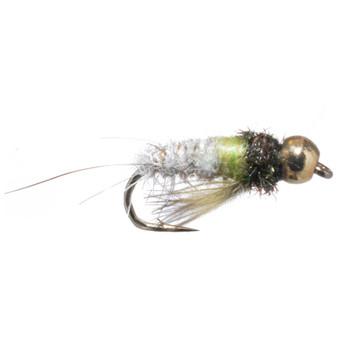 Solitude Fly Tungsten Bead Head Caddis Larva Natural Image 1
