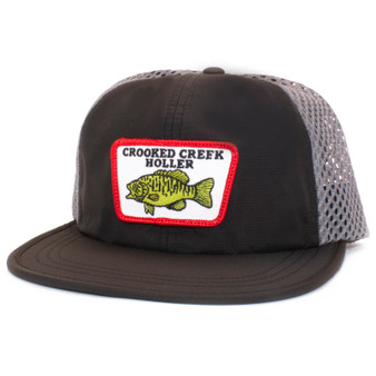 Crooked Creek Holler Smallie Quick Dry Trucker Black Image 1