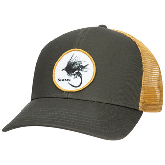 Simms Dryfly Rodeo Patch Trucker Foliage Image 1