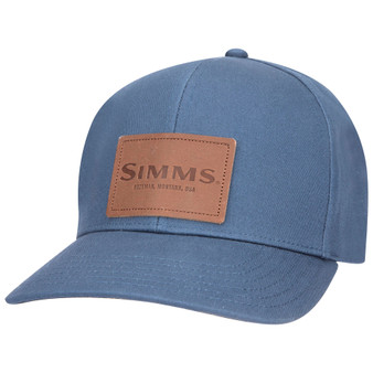 Simms Leather Patch Cap Dark Moon Image 1