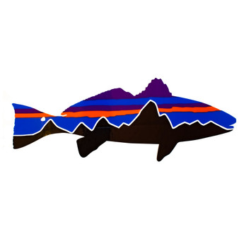Patagonia Fitz Roy Redfish Sticker Image 1