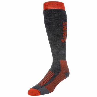 Simms Merino Midweight Otc Sock Carbon Image 1