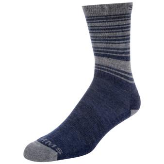 Simms Merino Lightweight Hiker Sock Admiral Blue Image 1
