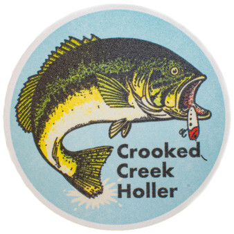 Crooked Creek Holler Hinkley Bass Sticker Image 1