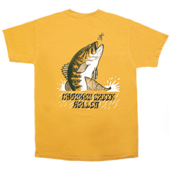 Crooked Creek Holler Summer Bass SS T Shirt Mustard Image 1