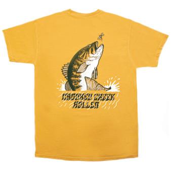 Crooked Creek Holler Summer Bass SS T Shirt Mustard Image 1