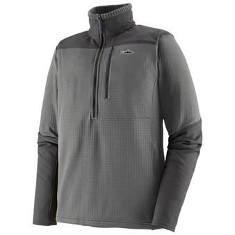Patagonia Long Sleeved R1 Fitz Roy 1 4 Zip Noble Grey Image 1